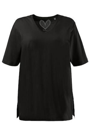 Plus_Size_Relaxed_Basic_VNeck_Short_Sleeve_Cotton_Tee