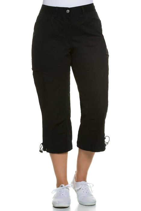 Seamed Cargo Pocket Crop Stretch Pants