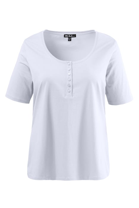Regular Short Sleeve Henley 6 Button Cotton Basic Tee