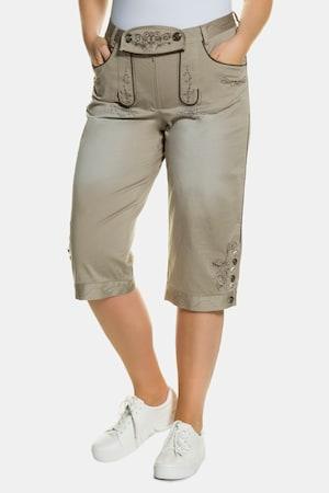 Pantalon bavarois, effet daim, ceinture à passants - Grande Taille