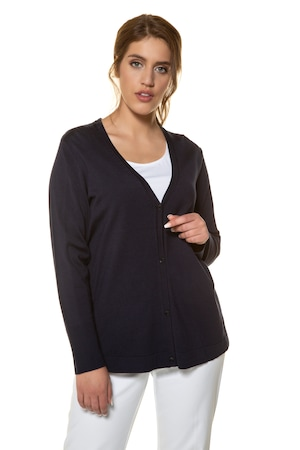 Plus_Size_Rayon_Nylon_Blend_Cardigan_Sweater