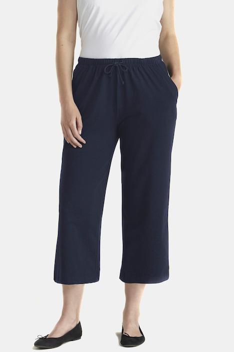 Image of Grosse Grössen 3/4-Jerseyhose, Damen, blau, Größe: 42/44, Baumwolle, Ulla Popken