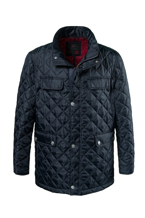 Diamond Quilted Snap Detail Lined Jacket