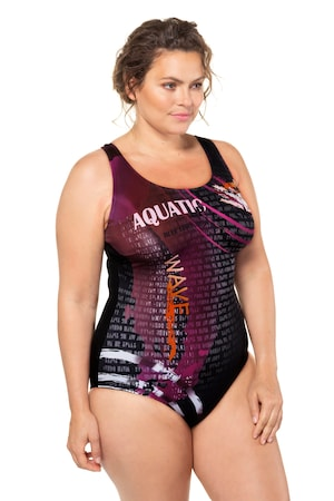 Plus Size Graphic Racer Back Swimsuit