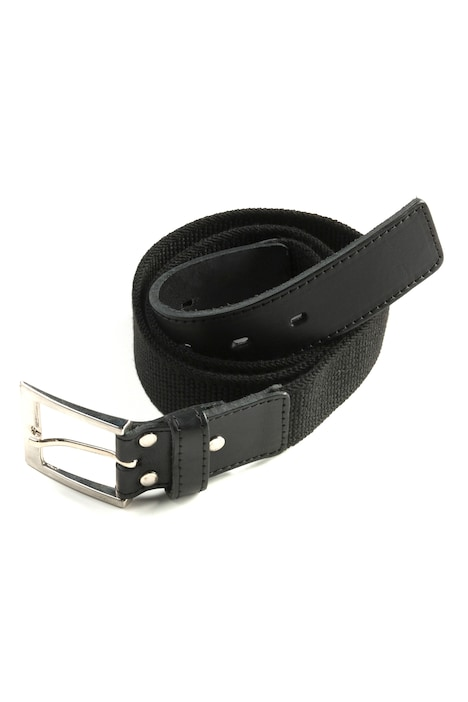 Stretch Fabric Adjustable Leather Metal Closure Belt