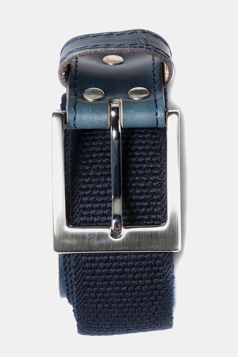 Duże rozmiary Parciany pasek ze streczu, mężczyzna, niebieski, rozmiar: 150, poliester/wiskoza, JP1880