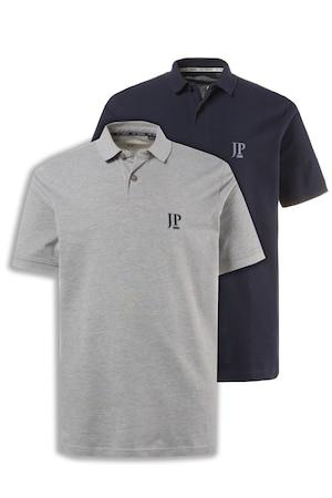 Plus Size 2 Pack polo shirts, combed cotton piqué