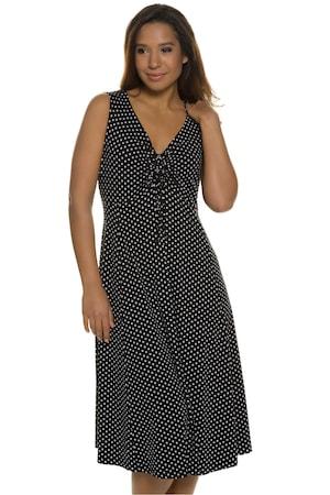 Plus_Size_Empire_Seam_Dot_Knit_Print_Dress