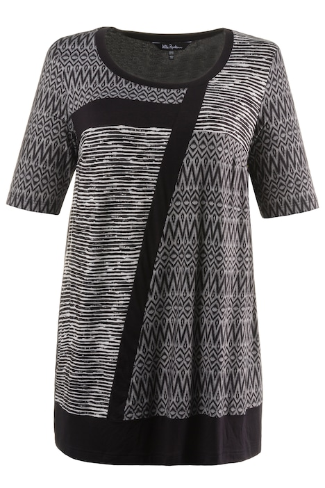 Mixed Graphic Print Knit Tunic