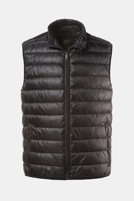 Basic Simple Quilted Zip Front Stand-up Collar Pocket Vest