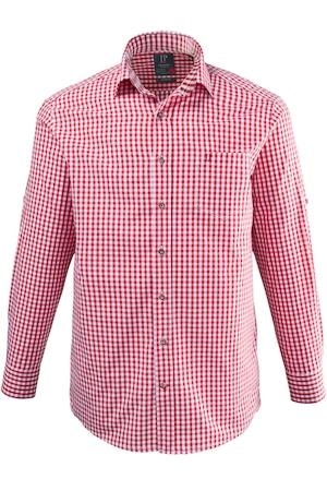 Plus Size Gingham Check Chest Pocket Comfort Fit Cotton Shirt