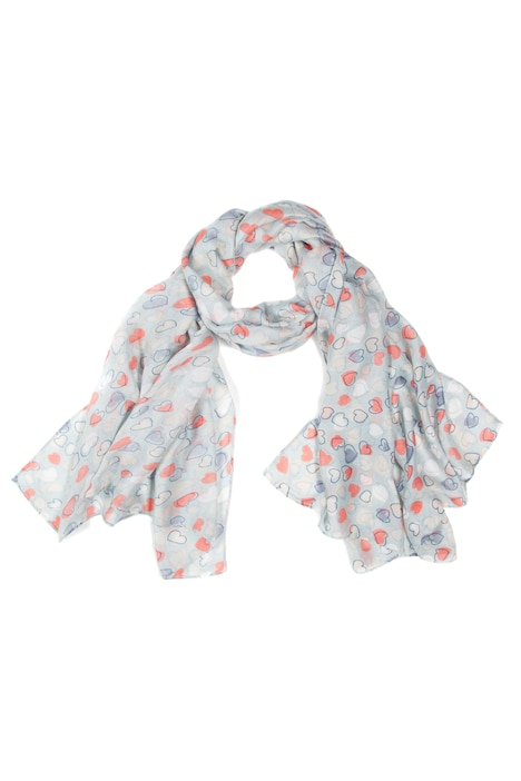 Pastel Heart Scarf