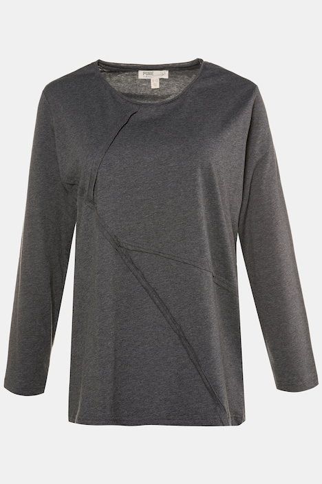 Eco Cotton Seam Round Neck L/S Regular Fit Tee