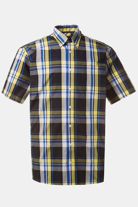 Yellow Accent Comfort Fit Cotton Plaid Shirt