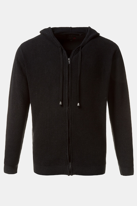 Comfort Hooded Zip Front Long Sleeve Cotton Sweatshirt