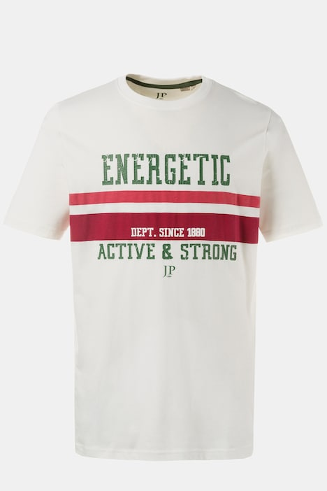 Energetic Round Neck Short Sleeve T-Shirt