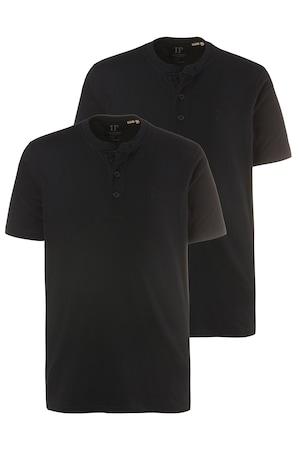 Plus_Size_2_Pack_Three_Button_Short_Sleeve_Cotton_Henley_TShirt