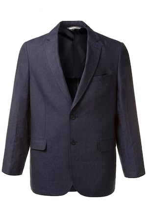 Plus_Size_Comfortable_2_Button_Front_Linen_Blazer