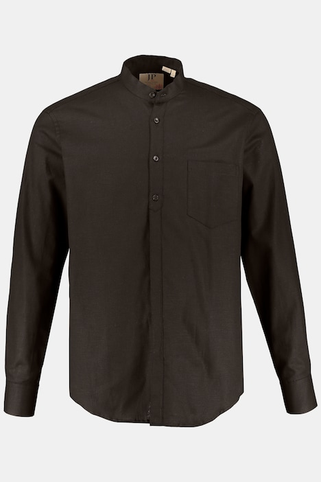 Long Sleeve Linen Cotton Blend Modern Fit Shirt