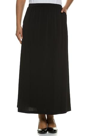 Plus Size Matte Jersey Elastic Waist Pocket A-line Skirt