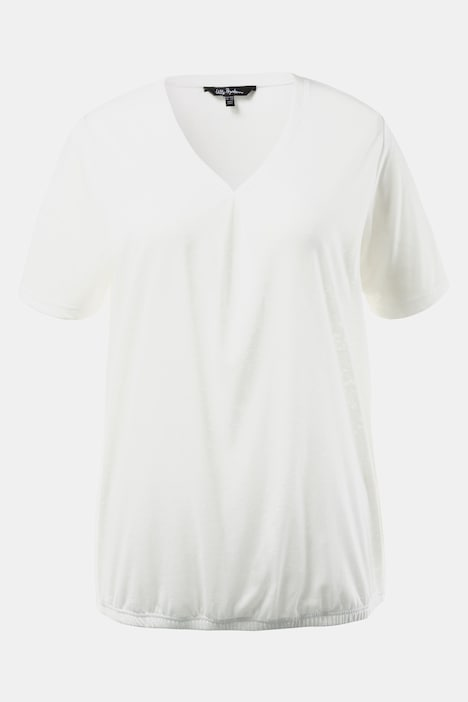 Burnout Cold Dye Elastic Hem Knit Top