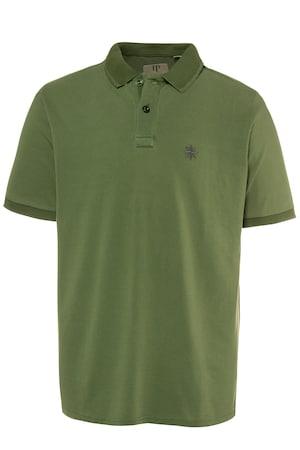 Plus_Size_Compass_Design_Chest_Logo_Cotton_Polo_Shirt