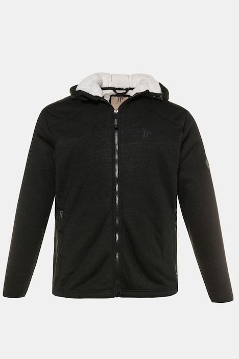 Fur Lined Zip Up Hooded Sweatshirt