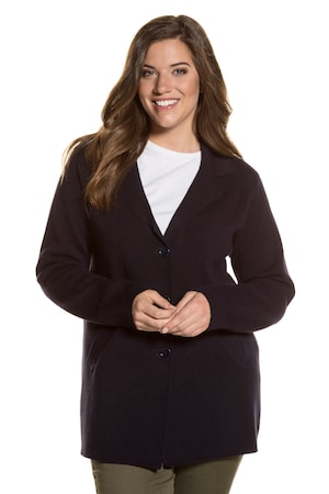 Plus_Size_Notch_Collar_Blazer_Cardigan_Sweater