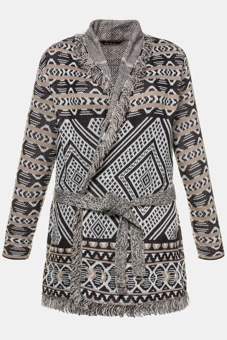 Ulla Popken V-Cardigan Knopfleiste Sweater Femme