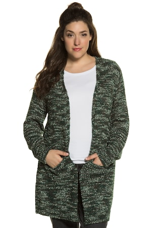Plus_Size_Marled_Open_Front_Long_Sleeve_Cardigan_Sweater