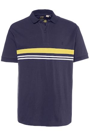 Plus Size Compass Logo Stripe Polo Shirt