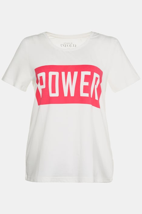 Power Round Neck Short Sleeve Knit Top