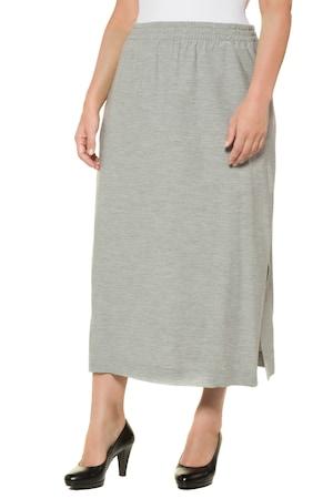Plus_Size_Grey_Melange_Elastic_Waist_Pocket_Skirt