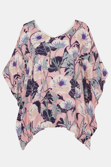 Full Bloom Kimono Style Oversized Fit Lined Blouse