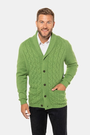 Men's Vintage Sweaters, Retro Jumpers 1920s to 1980s Plus Size Braided Cardigan Sweater $89.95 AT vintagedancer.com