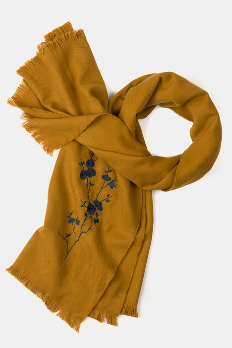 Floral Embroidered Versatile Scarf