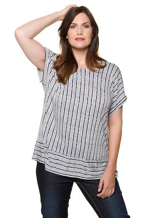 Plus Size Unique Stripe Dolman Sleeve Knit Top