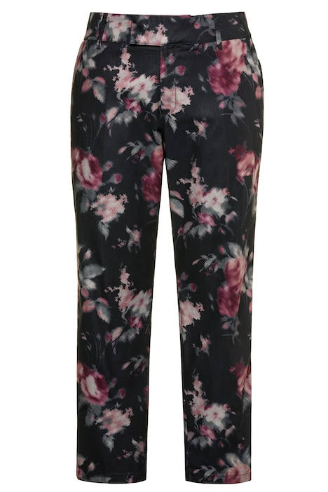 Satin Stripe Floral Print Sophie Fit Stretch Pants