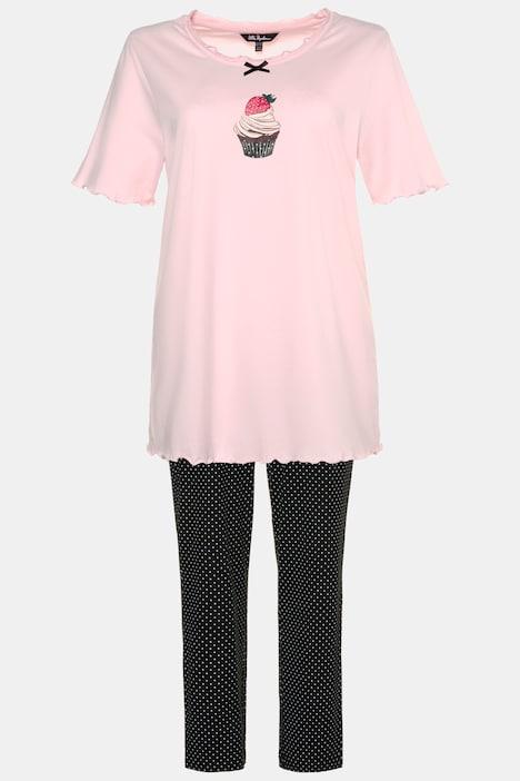 NEW Ladies 100/% Cotton /'Cup Cake/'  Pyjamas Nightwear//Loungewear