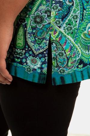 Duże rozmiary Długi T-shirt, damska, kolorowy, rozmiar: 58/60, bawełna, Ulla Popken
