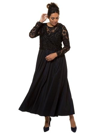 Plus Size Lace Taffeta Occasion Maxi Dress