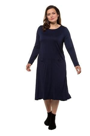 Ulla Popken Jerseykleid, Teilungsnaht, Stretchkomfort - Große Größen