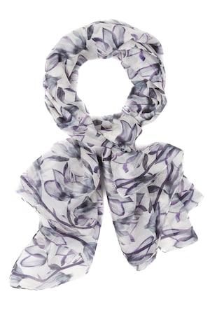 Ulla Popken Seidentuch, florales Design, großes Carreetuch - Große Größen