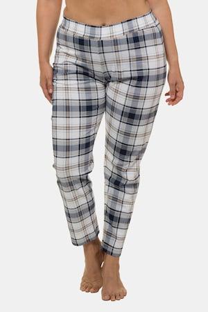 Plus Size Plaid Elastic Waist Lounge Pants