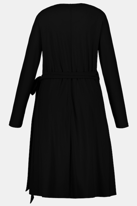 Robe Portefeuille Lien A Nouer A La Taille Manches Longues D Autres Robes Robes Ulla Popken Belgique