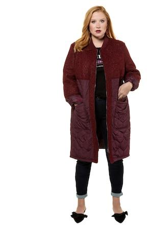 Ulla Popken Mantel, Bouclé/Stepp, lange Blousonform - Große Größen