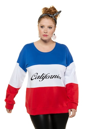 Ulla Popken Sweatshirt, oversized, Colorblocking, California, Langarm - Große Größen
