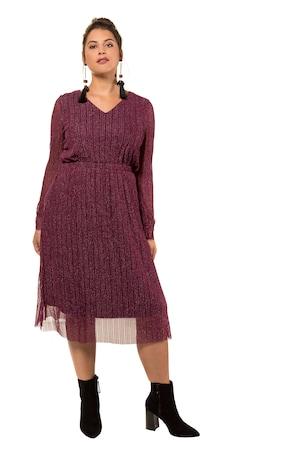 62035bf46f3007 Ulla Popken Midi-Kleid, Glitzermesh mit Futter - Große Größen in  dunkel-bordeaux