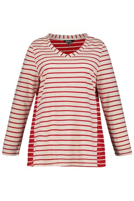 ULLA POPKEN Shirt Comic-Print creme-rosé NEU