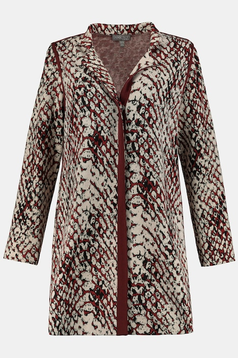 Wild Animal Jacquard Stretch Knit Jacket